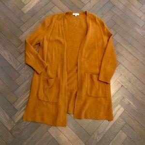 Madewell Burnt Orange Open Cardigan